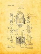 Lock Casing Patent Print - Golden Look - $7.95+
