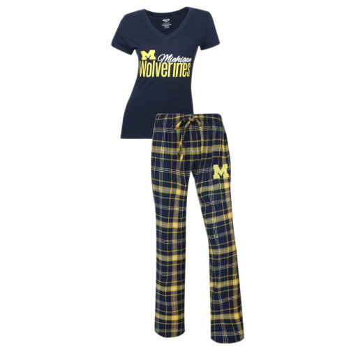 XL Michigan Wolverines Women's Halftime Sleep Set Tee Shirt Pants Lounge Pajamas