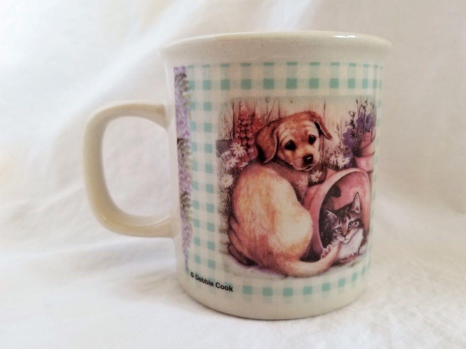 Puppy Kitten Cat Dog Mug Debbie Cook Prurple Planters Sleeping Quilt