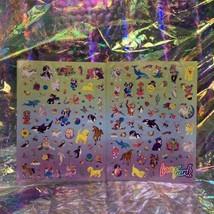 Lisa Frank Sticker Sheet Set Bottom 1/2 Of S1066 Complete Giant Mods image 1