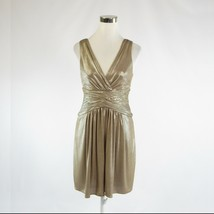 Metallic gold BCBG MAX AZRIA shimmery sleeveless A-line dress S - $24.99