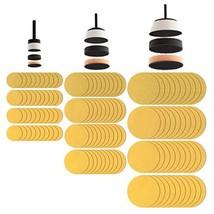 Fulton 129 Piece Bowl Sanding Disc Set | 1, 2 and 3 inch Padded Mandrels |1 Soft