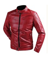 Mens Simple PU Leather Jacket Slim Motorcycle Leather - $34.98