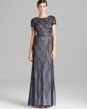 Adrianna Papell Beaded Mesh Gown Dress Sz 6 - $146.30