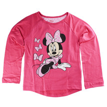 Disney Store Girls Minnie Mouse Polka party Long Sleeve T-Shirt, Pink - $22.50