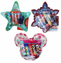 SMACKER 5pc Set HOLIDAY Lip Balm+Cosmetic Bag STOCKING STUFFER New! *YOU... - $7.99