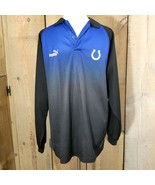 Indianapolis Colts by Puma NFL Men's Long Sleeve Shirt Polo Size Medium ... - $24.19