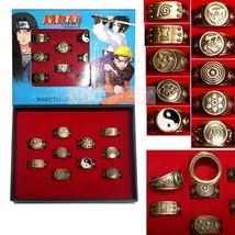 Naruto Konoha Logo Hyuga Family Logo Ring Ten Styles Originals Ring Set - $14.68