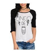 Women's Cozy Cinco De Mayo Long Sleeve Graphic Top Size Medium - $18.99