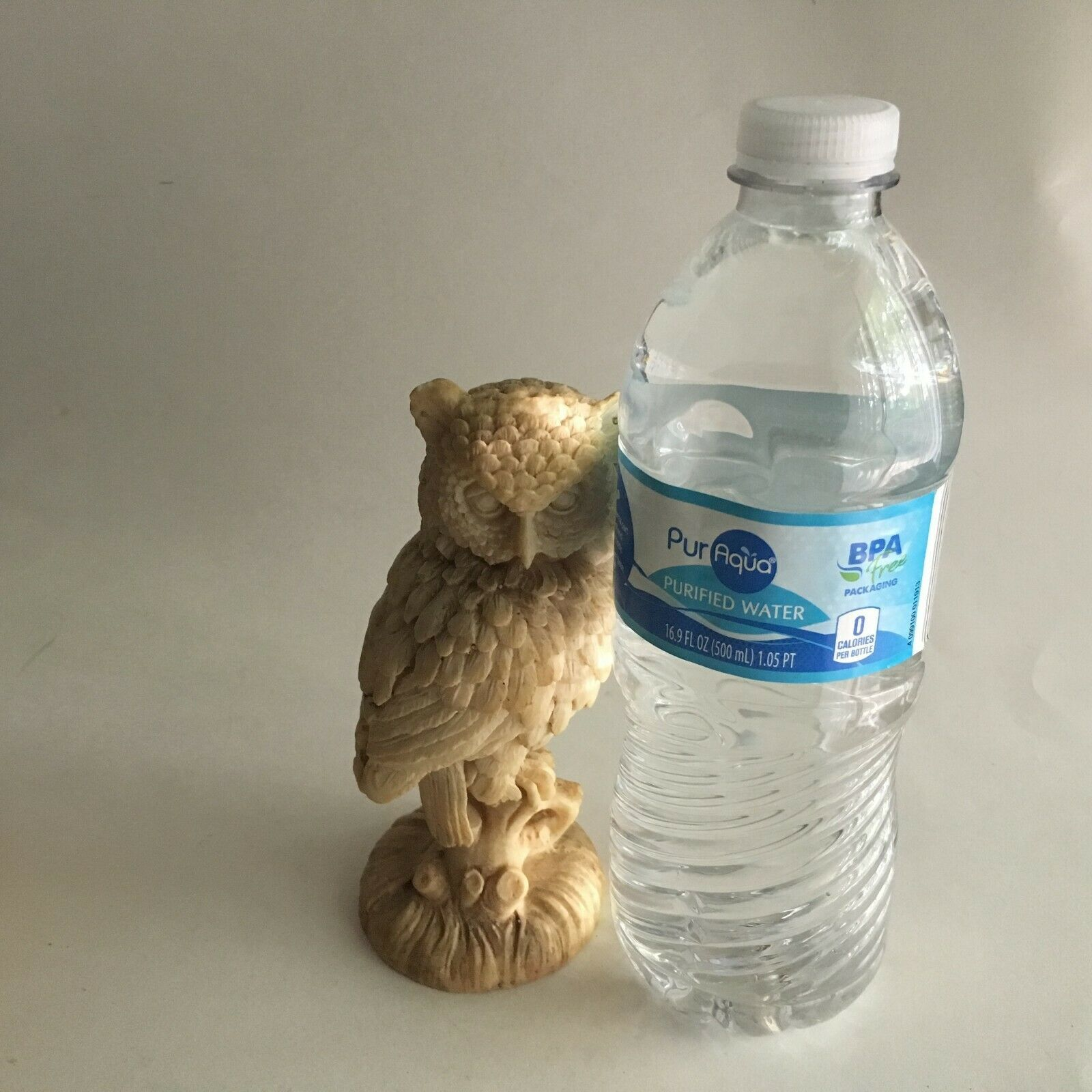 "Owl Figurine Composite/Resin Statue 5.5"" Tall Intricate Design Animal"