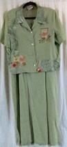 R&K Originals Dress Suit 16 Green short sleeve Maxi - $15.15