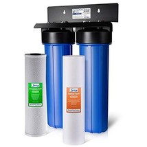 iSpring WGB22B 2-Stage 20 Big Blue Whole House Water Filter 1-Inch NPT C... - $294.94
