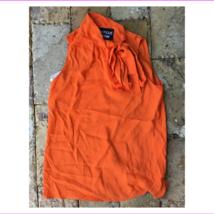 $345 Moschino Sleeveless Tie Neck Blouse, Orange, size 8, Italy 42 - $166.11