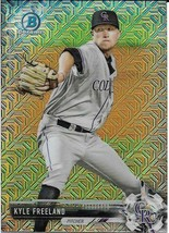 2017 BOWMAN CHROME MEGA BOX MOJO BCP109 KYLE FREELAND RC ROCKIES FREE SHIP - $1.99