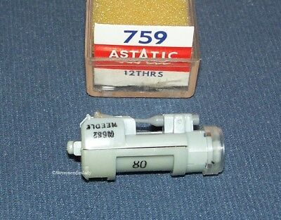 ASTATIC 759 PHONOGRAPH CARTRIDGE NEEDLE for Sonotone 12THA-S 12TLA-S Sears
