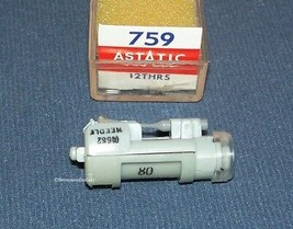 ASTATIC 759 PHONOGRAPH CARTRIDGE NEEDLE for Sonotone 12THA-S 12TLA-S Sears image 1