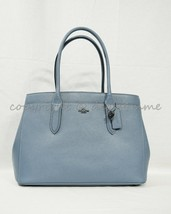 NWT Coach 24218 Bailey Crossgrain Leather Carryall Tote/Satchel in Chambray - $249.00