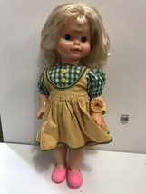 HTF 1964 Vintage All Vinyl Timey Tell Baby Doll by Mattel Original Cloth... - $9.85