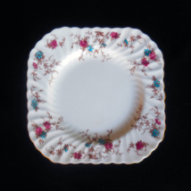 "Minton ""Ancestral Gold S376"" Bone China Square Luncheon Plate - $49.00"