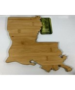 "NEW Totally Bamboo LOUSIANA State Wood Cutting Board Tray 13"" x 12"" x 5/... - $23.70"