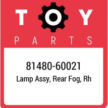 81480-60021 Toyota Lamp Assy Rr Fog, New Genuine OEM Part - $66.67