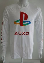 Playstation Mens Graphic Tee White 100% Cotton Sizes S M L XL T-Shirt - $24.98
