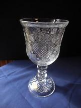 "Fostoria for AVON 1978 Hearts Diamonds Wine Water Goblet 7"" Sticker intact - $8.99"