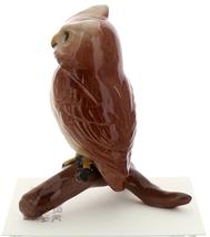 Hagen-Renaker Miniature Ceramic Bird Figurine Owl Great Horned on Branch image 2