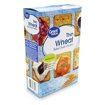 3 Pack Great Value Thin Wheat Baked Snack Crackers, 9.1 oz - $32.48