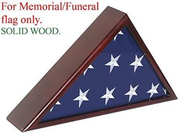Solid Wood Memorial Flag Case Frame Display Case for 5x9.5' Flag Folded. for Fun