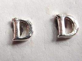 """The Letter """"D"""" Stud Earrings 925 Sterling Silver Corona Sun Jewelry d - $5.93"""