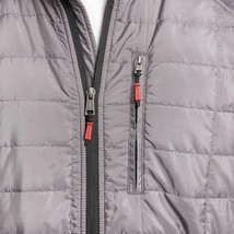 Orvis Men's Charcoal Gray Mixed Media Zipper Quilted Jacket Size Large NWT image 2