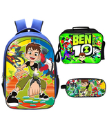 Ben 10 Backpack Lunch Box Pencil Case Outdoor School Package  - $45.99