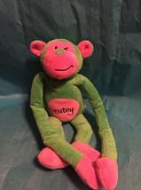 Pink Green Long Arm Monkey Cutey Plush Monkey Animal Toy  - $29.69