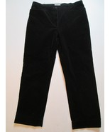 Jones Sport Women's Pants Size 16 X 29 Corduroy Black #G5 - $18.99