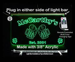 Personalized  Bar Sign, LED Man Cave Sign- Garage Sign, Beer Mugs, Light... - $94.05+
