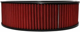 """HIGH FLOW WASHABLE & REUSABLE ROUND AIR FILTER ELEMENT REPLACEMENT 14"""" X 4"""" RED image 2"""