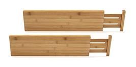 Lipper International 8897 Bamboo Wood Custom Fit Adjustable Deep Kitchen Drawer