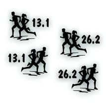 Marathon 13.1 & 26.2 COUPLE decal PAIR EACH race Olympic mile runner BLACK - $8.83