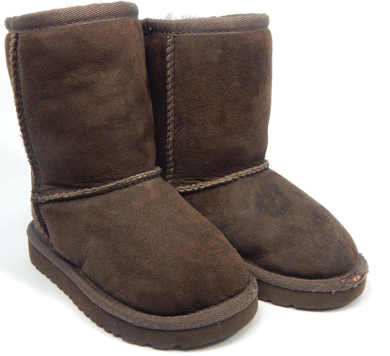 Ugg Australia Classic Brown Short Boots Toddler Little Kids Size 7 5251T
