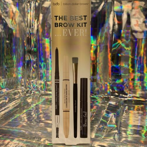 NEW IN BOX Billion Dollar Brows The Best Brows Ever! Kit 4pcs Gel Pencil Conceal