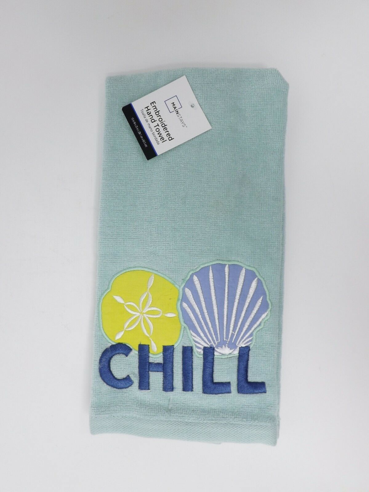 Mainstays Embroidered Hand Towel - New - Chill - $9.99