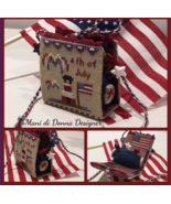 Independence Day Pincushion cross stitch chart ... - $13.50
