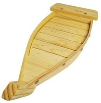 100% Natural Bamboo Wooden Sushi Tray Serving Boat Plate For Home Or Restaurant - $84.80