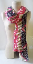 "STELLA & DOT Scarf Union Square GEO IKAT Med Weight Viscose 38"" x 70"" Wi... - £10.89 GBP"