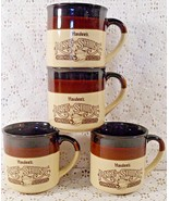 Vintage 1989 Hardee's Rise and Shine Coffee Mugs Set Of 4 - $16.78