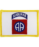 82nd Airborne Division Rectangular Patch (Gold Border) - $3.00