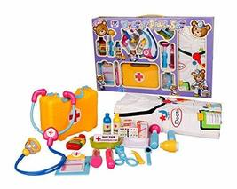 PANDA SUPERSTORE Pretend Play Doctor & Patient Kids Medical Kit With Doctor's Go
