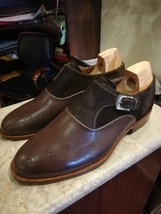Handmade Leather Monk Shoes for Men Men Dress Shoes Buckle Strap Monk Shoes Men - $158.30 - $179.99