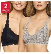 Women's Felina Bralette XL  2pc Pack  Grey/Black  #236 - $12.99